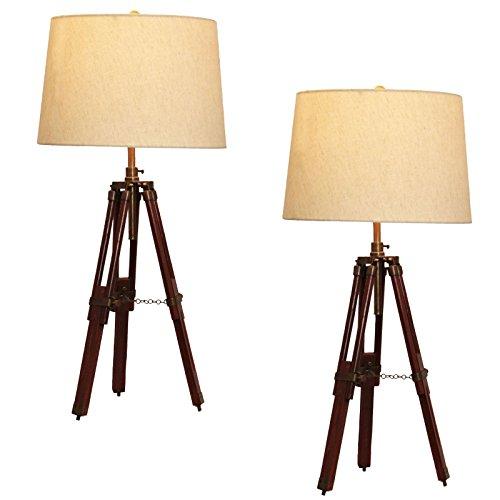 Tripod table lamps amazon urban designs surveyor tripod table lamp set of 2 mozeypictures Gallery