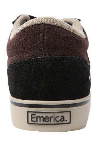 Emerica JINX 6101000065-2 - Zapatillas de deporte de cuero unisex Negro / Marrón