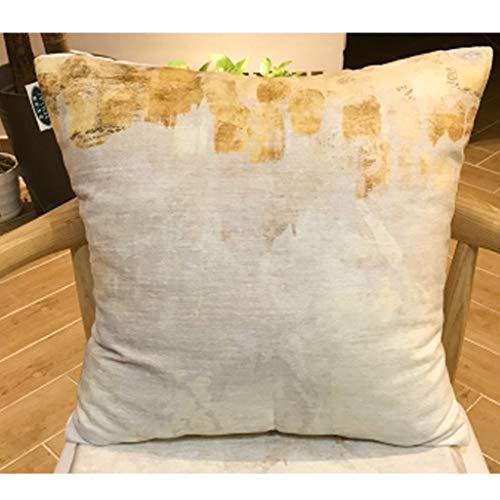 SPLY DTEM Pillow Cotton Pillow Thick Chenille Cushion with Core PP Cotton Lumbar Pillow 44cm44cm Pillow (Color : ()