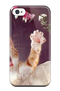 Iphone 4/4s Case Slim [ultra Fit] Cat By The Window Protective Case Cover