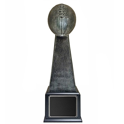 Awards and Gifts R Us Customizable 16-1/4 Fantasy Antique Silver Resin Football Trophy, Includes Personalization