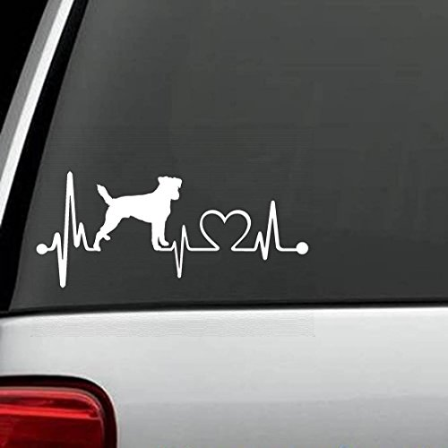 K1061 Jack Russell Terrier Heartbeat Lifeline Dog Decal for sale  Delivered anywhere in Canada