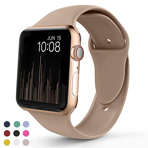 VATI Sport Band Compatible with Apple Watch Band 40mm 44mm 42mm 38mm, Soft Silicone Sport Strap Replacement Bands Compatible with iWatch Apple Watch Series 4, Series 3/2/1 S/M M/L from VATI