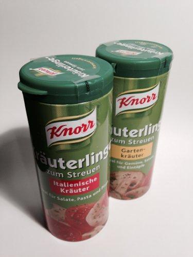 Knorr Garden (1x) & Italian Herbs (1x) Seasoning Mix (Knorr Kräuterlinge Gartenkräuter & Italienische Kräuter, 2.1oz - 60g) ()