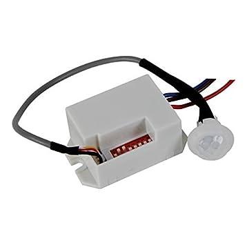 Velleman PIR416 Alámbrico Blanco Detector de Movimiento - Sensor de Movimiento (Alámbrico, 5 mA