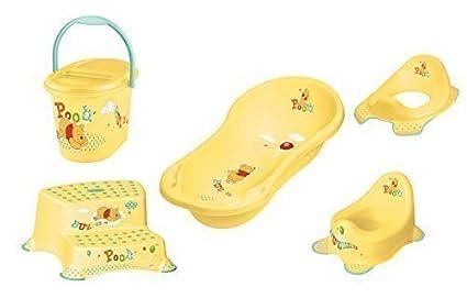 5er Set Z Winnie Pooh amarillo: Bañera XXL + WC Módulo + Infantil Olla +