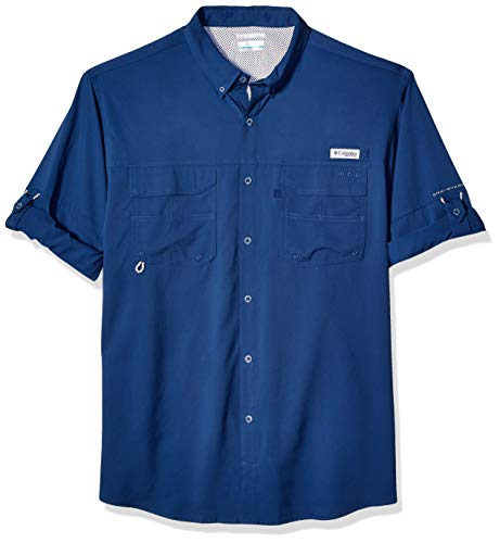 Columbia Men's PFG Blood and Guts III Long Sleeve Woven Shirt , Carbon, Large