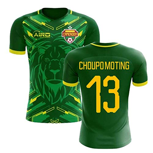 (Airosportswear 2018-2019 Cameroon Home Concept Football Soccer T-Shirt Jersey (Eric Maxim Choupo-Moting 13))