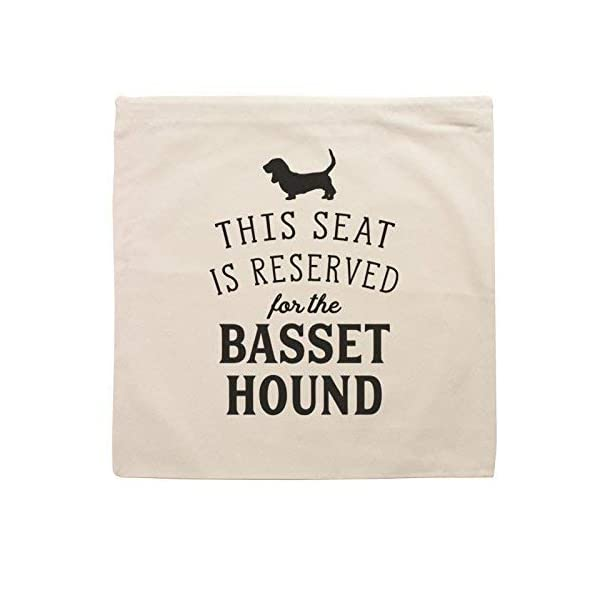 NEW - RESERVED FOR THE BASSET HOUND - Top Quality Cushion Cover - Dog Gift Present Xmas Birthday 3