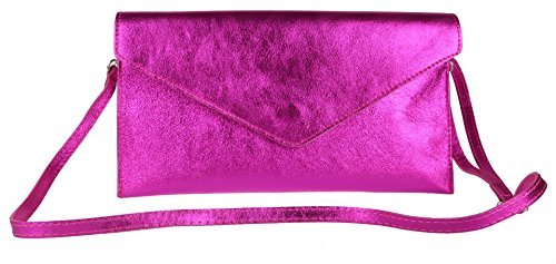 Clutch Womens Girly HandBags Violetta Fuchsia tUt8x