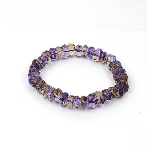 O-stone 3A Rare Ametrine Arbitrary Shape Facets Bracelet 10mm Grounding Stone Protection by O-STONE