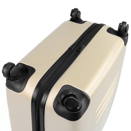 HAUPTSTADTKOFFER® Reisekoffer · Hartschalenkoffer · Versch. Modelle · TSA oder Zahlenschloss + DESIGN KOFFERANHÄNGER (TSA Zahlenschloss, Weiss (67 Liter WEDDING))