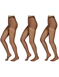 b15068c38 3 or 10 Pairs Control Top Sheer Pantyhose