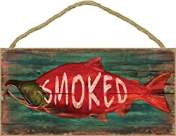 Sjt Enterprises Inc Smoked Salmon 5 X 10 Wood Plaque Sign Features The Artwork Of Jq Licensing Sjt21519