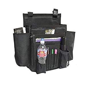 Versatile Car Front & Back Seat Storage Pouch Auto Organizer Bag Tote Passenger Seat Storage Caddy with 11 Pockets Holds Your Laptop, Books, Travel Accessories and More (Black)