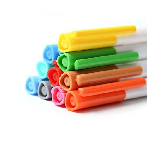 good ZSCM 24 Art Color Fineliner Pen Set,0.4mm Assorted Colored ...