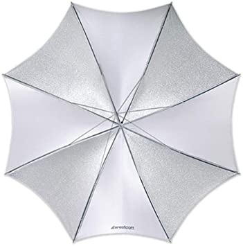 Westcott 2002 43-Inch Soft Silver Collapsible Umbrella