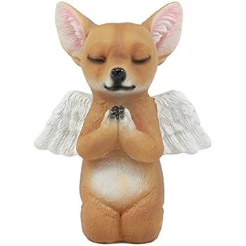 Ebros Adorable Praying Angel Chihuahua Dog Pet Memorial Statue Inspirational Heavenly Taco Chihuahua Puppy Sculpture Decor