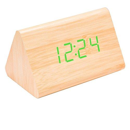 Sound environmental LED wood clock creative clock - 3