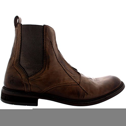 Mens Fly London Helt Office Smart In Pelle Formale Flat Boots Chelsea Boots