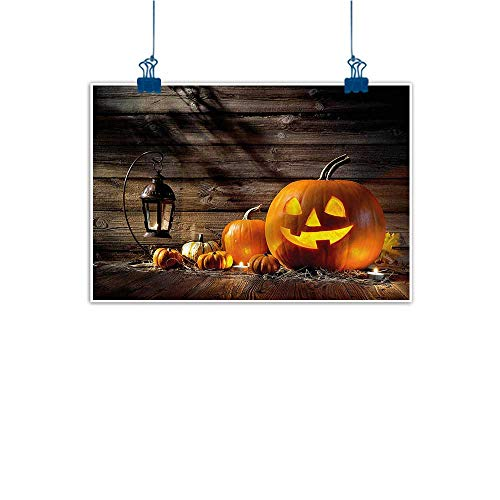 Warm Family Chinese Classical Oil Painting Halloween Grinning Face of Pumpkin for Living Room Bedroom Hallway Office 24