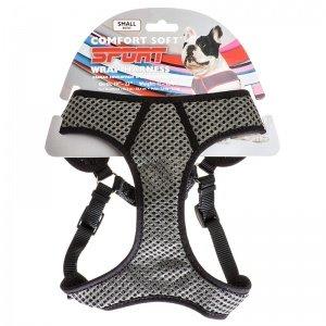 Comfort Soft Sport Wrap Adjustable Dog Harness , Black)