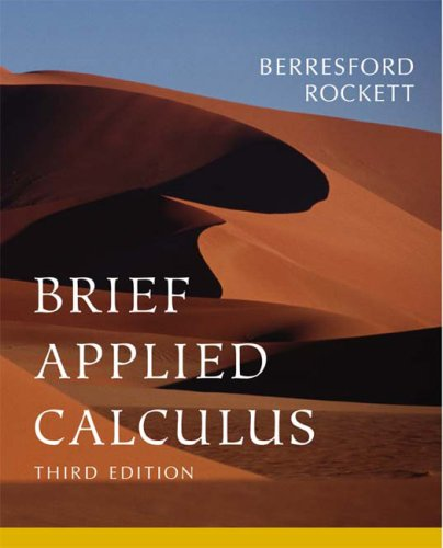 Brief Applied Calculus for Business