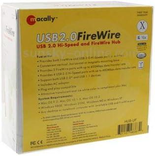 4 Port USB 2.0 Hi-Speed + 3 Port IEEE 1394 FireWire Computer /& USB Accessories 2 in 1 Hub USB Hubs