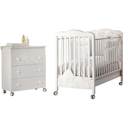 Cuna y cómoda cambiador Baby Expert COCCOLO Lux blanco: Amazon.es: Bebé