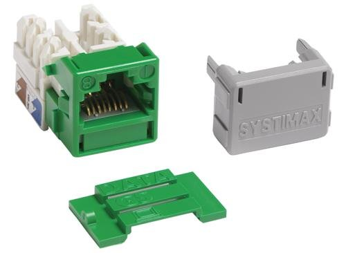 MGS400-226 - Systimax GigaSPEED® XL MGS400 Series Category 6 U/UTP Information Outlet, Green ()