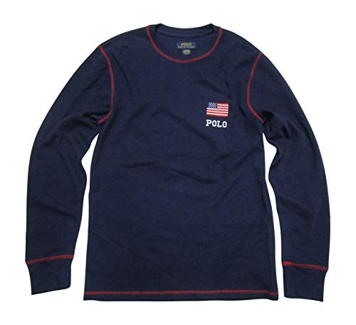 - Polo Ralph Lauren Men's Big & Tall Thermal Shirt Long Sleeve Soft and Light T-Shirt Flag (3X Big, Cruise Navy)