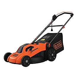 "BLACK+DECKER BEMW213 20"" Electric Lawn Mower, 13-Amp, Orange 45 13 amp motor to power through tall grass 20"" Mower deck 6 setting Height adjust for precise cutting specifications"