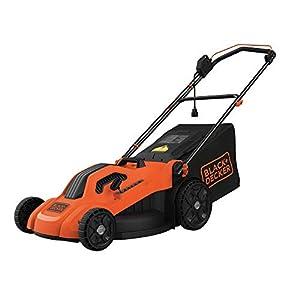BLACK + DECKER BEMW213 20″ Electric Lawn Mower, 13-Amp, Orange