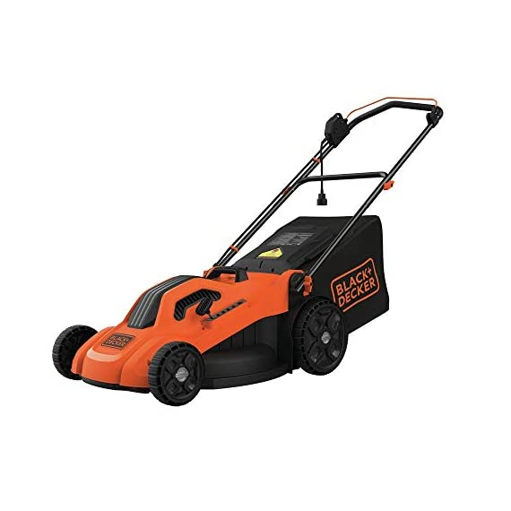 BLACK+DECKER Lawn Mower, Corded, 13 Amp, 20-Inch (BEMW213) 1 Push mower comes with 13 Amp motor to power through tall grass Electric mower can adjust height with 6 settings for precise cutting specifications Push lawn mower comes with easy Fold handle for convenient storage when not in use