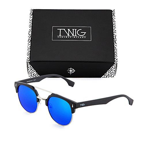 Gafas Negro mujer espejo sol Azul TWIG degradadas hombre de DURER 118Ax