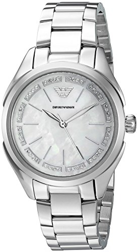 Emporio Armani Women's 'Valeria' Quartz Stainless Steel Casual Watch, Color: Silver-Tone (Model: AR11030)