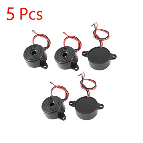 Sydien 3-24V Active Piezo Electronic Buzzer Beep Tone Alarm Ringer Continous Sound 95DB (Pack of 5)