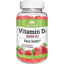 Natvites Vitamin D 2000IU Pectin Gummies for Adults 120 Count