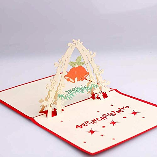 1 piece Ochine 3D Gorgeous Cake Birthday Card Diy Hollow Paper Card Greeting Blessing Gift Paper Pop Up ()