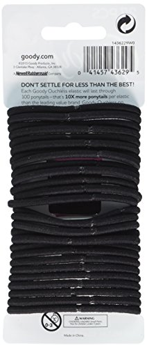 Goody Ouchless Elastic Thick Black 27 Count 11street
