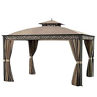 Garden Winds Replacement Canopy Top Cover for Southport Gazebo - Model L-GZ399PAL-B - (Will Not Fit Any Other Gazebo): Garden & Outdoor