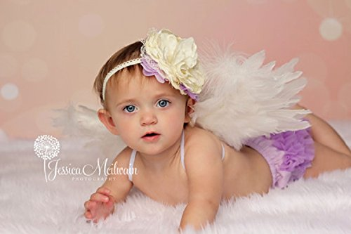 Angel Wings Costume Cosplay Prop Free Halo Sale Baby angel Newborn to Toddler Choose size and color]()