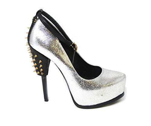 Heel Size Work Pumps Ladies Mid Formal Shoes Womens Silver Low 1066 Concealed SKO'S Court f1 Platform xTf7Iq8T