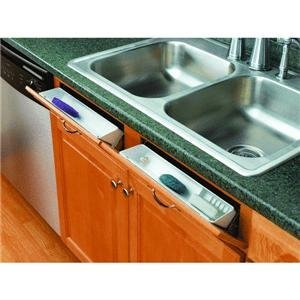 Polymer Sink Hole Covers - Rev-A-Shelf 11 Tip-Out Front Sink Tray Set
