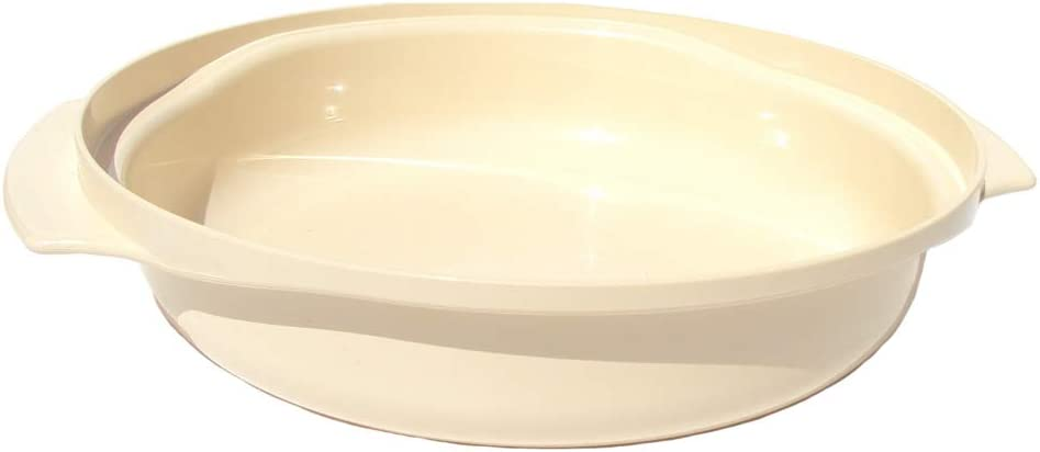 Tupperware Stack Cooker 1 Quart Casserole Dish in Almond Off White