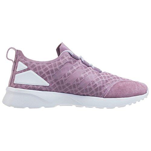 Verve Baskets Blanch ADV EU White Blanch 40 Core adidas Purple Purple Basses Femme Violet ZX Flux qnFRABAwt