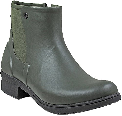 Bogs Womens Auburn Rubber Rain Boot Dark Green Size 7