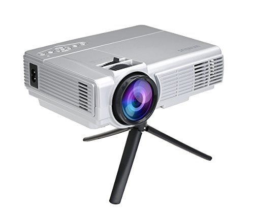 Wimius t3 1200 lumens 100 inch led video projector mini for Small lcd projector reviews