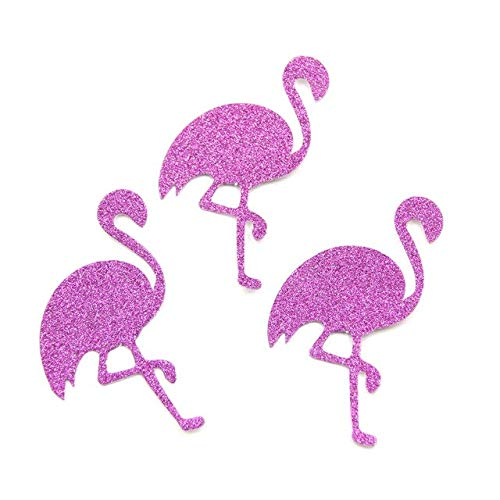 Laz Tipa - 50PCS Glitter Paper Stickers Gold Horse&Flamingo Confetti DIY Scrapbooking Home Decor Birthday/Wedding Party Decoration ()