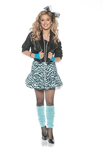 Joan Jett Costumes (Rockin' the 80's Valley Girl Costume - Blue, Small)
